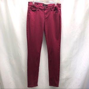 Lucky Brand Lolita skinny pink jeans